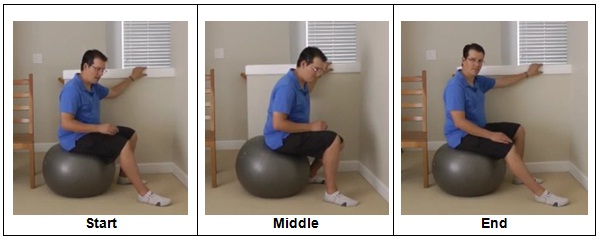 Knee Replacement Exercise with Stability Ball