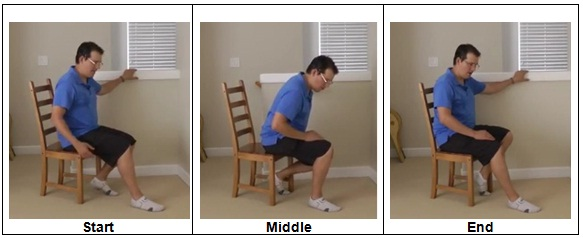 Knee Replacement Exercise with a chair