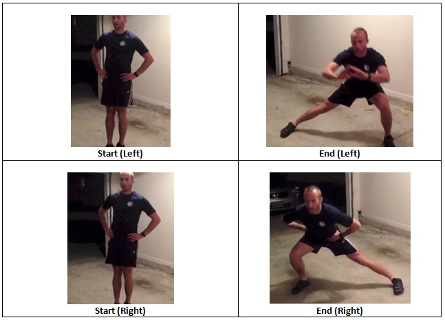 Left and Right Lateral Lunge