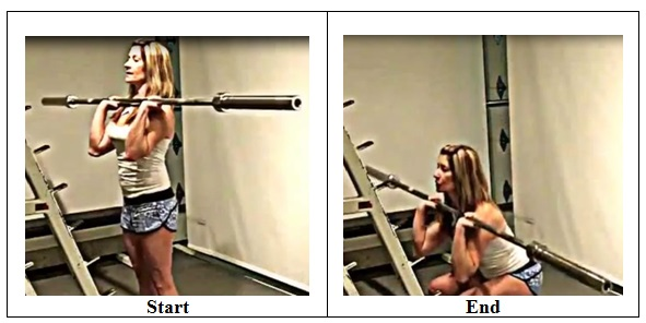 Narrow Stance Front Squat